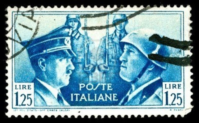 4271398-rare-vintage-1930s-italian-stamp-depicting-the-dictators-hitler-and-mussolini